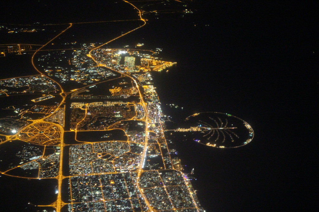 Flying over Dubai