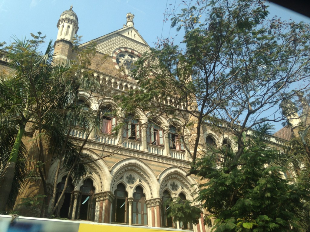 Victoria Terminus shot on mobile camera in passing.