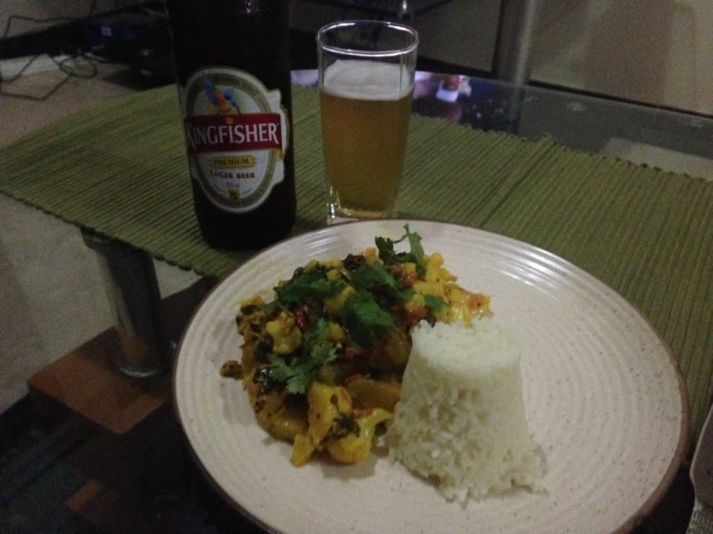 Cauliflower and pineapple curry