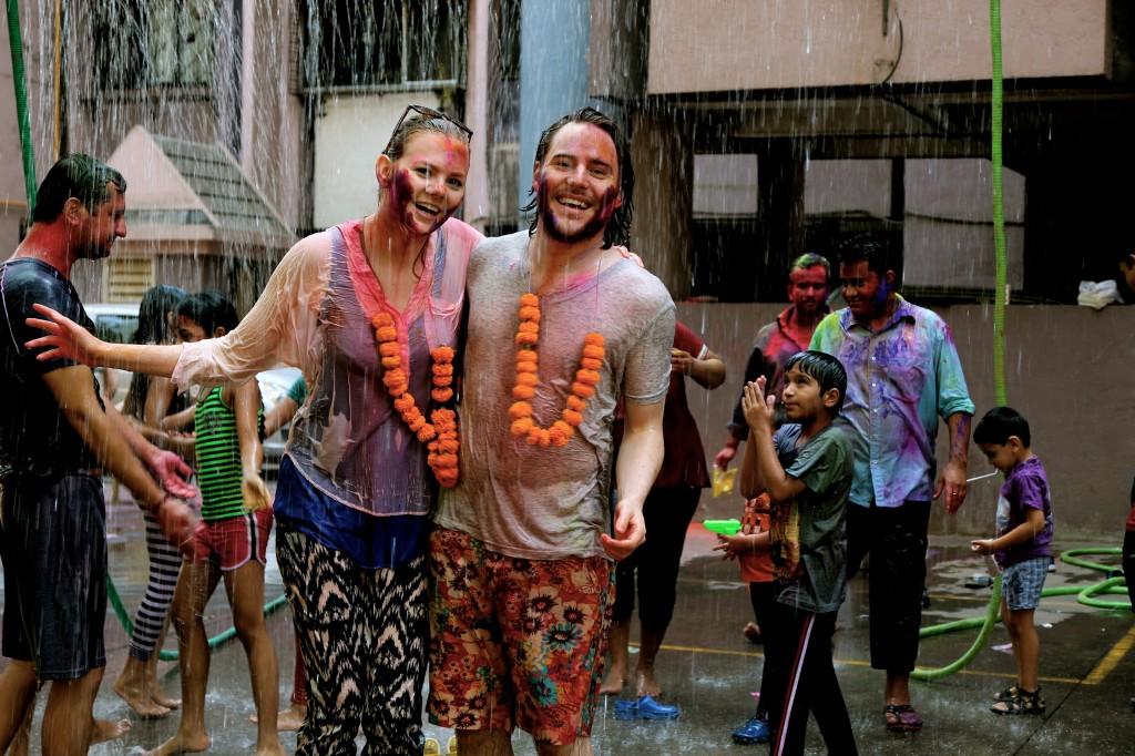 Andrea and Marius celebrating Holi