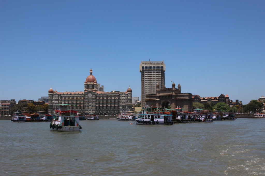 The Gateway and Taj Mahal hotel from the ferry