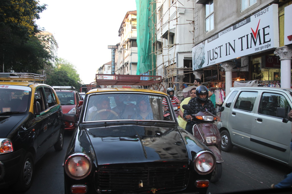 On our way from Colaba Market to Haji Ali